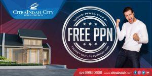 PPN ditanggung pemerintah di CitraIndah City Jonggol