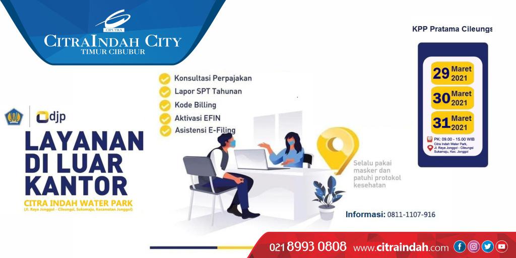 CitraIndah City menyediakan tempat untuk Layanan lapor pajak di luar kantor