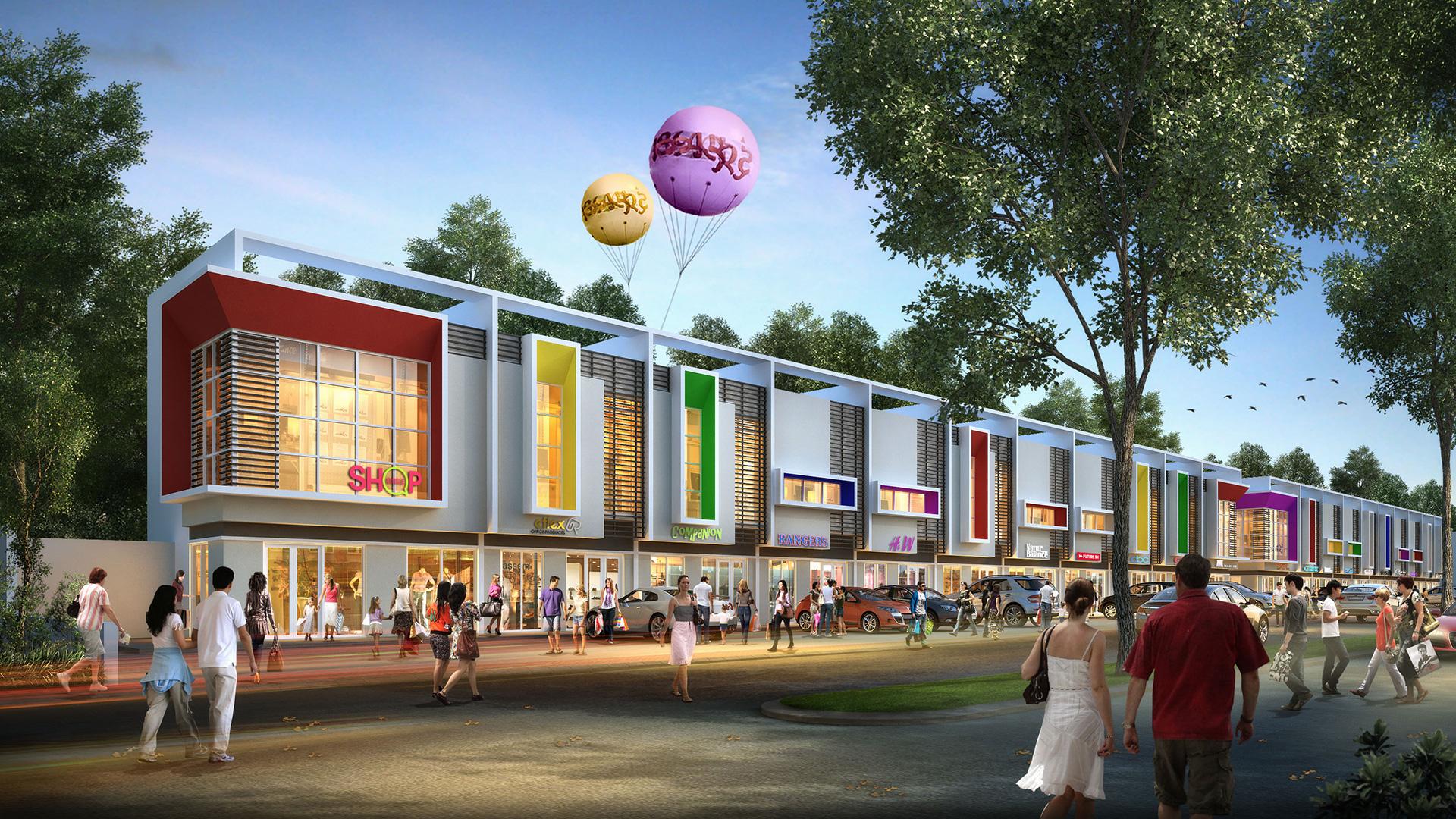 3d Ruko Rafflesia CitraIndah City